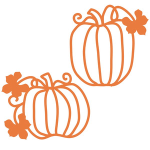 two papercut pumpkins