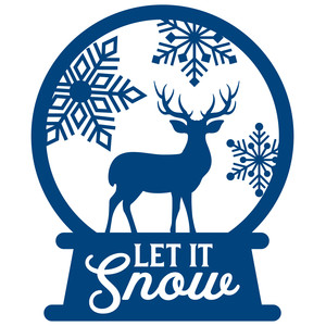 snow globe - let it snow