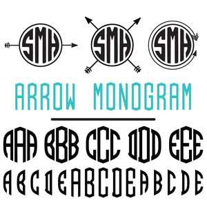 arrow monogram font