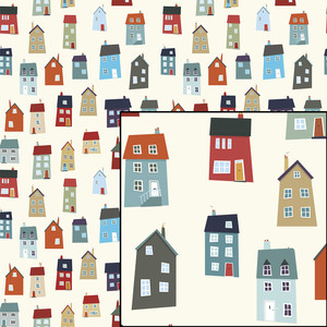 little houses pattern