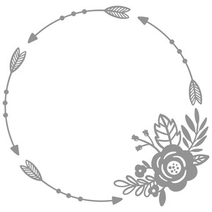 arrow flower circle