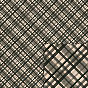 black and cream plaid background paper