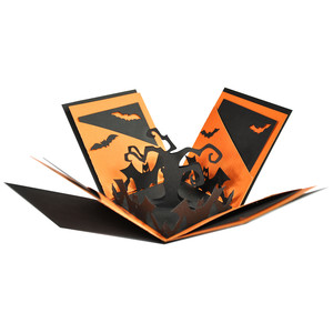 batty halloween explosion box