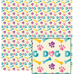 dog-themed pattern