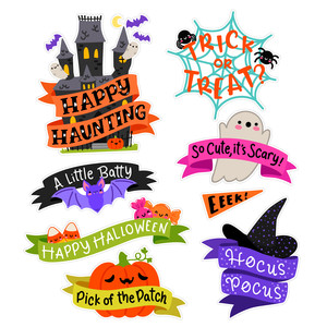 halloween banner sticker set