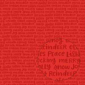 christmas words seamless pattern (red)