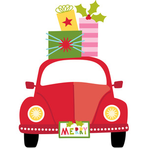 car with gifts