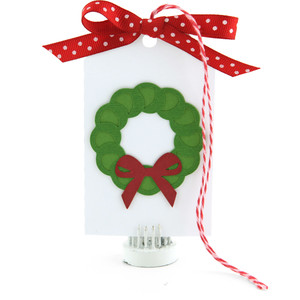 gift card tag wreath
