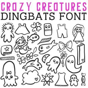 cg crazy creatures dingbats