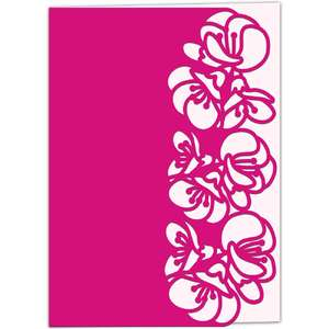 quince blossom lace edged card
