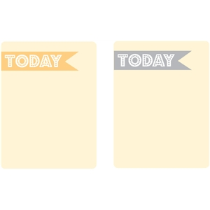 today journaling cards - set 2 (gray & yellow)