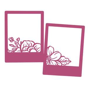 two photo frames with flowers