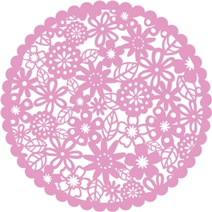 scalloped flower circle
