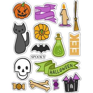 ml spooky scary stickers