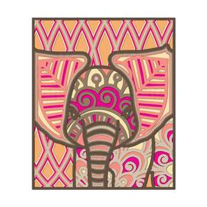 3d mandala elephant / multi layer elephant