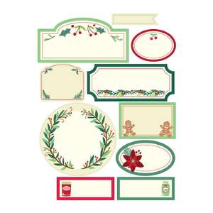 holiday cookbook label stickers