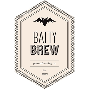 batty brew beverage label