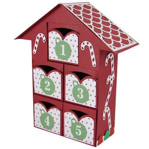 christmas advent village drawers 1-5 – candy canes