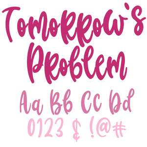 tomorrow's problem font