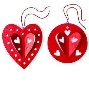 3d heart gift tags