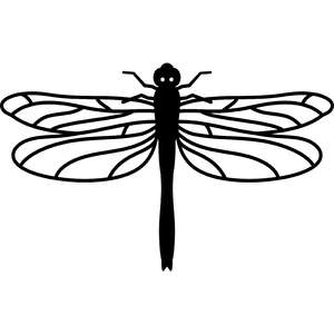 dragon fly silhouette