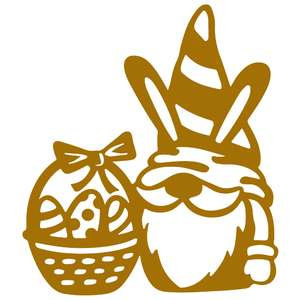 easter gnome with basket
