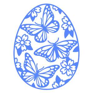 butterfly easter egg