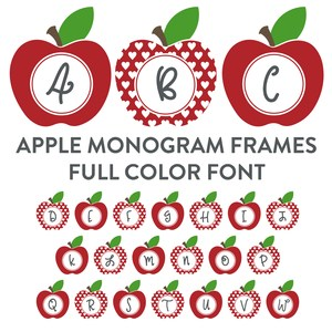 apple monogram frames full color font