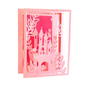 flower castle accordion card