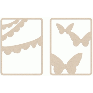 album card overlays - butterflies