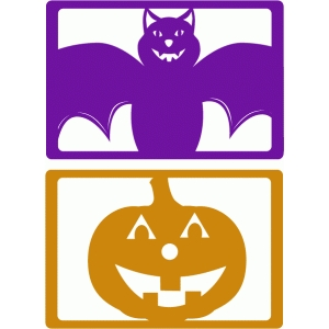 bat & pumpkin cards
