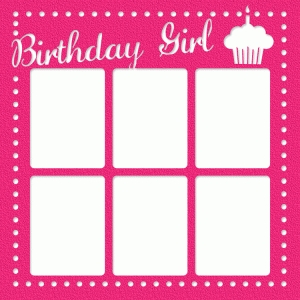 birthday girl photo frame