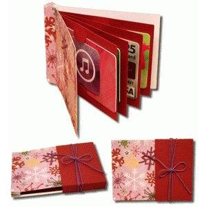 3d book of gift cards