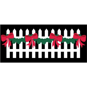 fence with garland