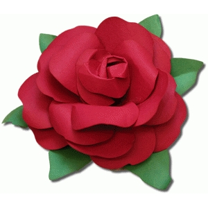 3d rolled rose flower