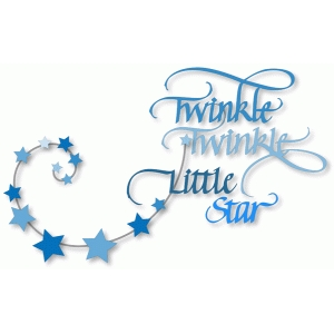 twinkle twinkle little star - calligraphy