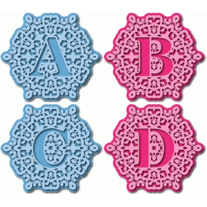 ornate monogram abcd