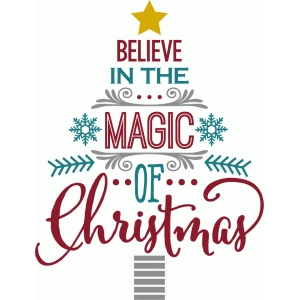I Believe In Christmas.Silhouette Design Store