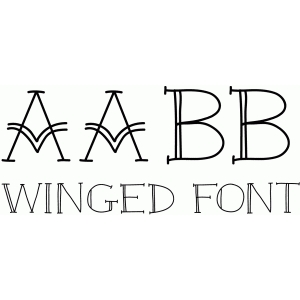 winged font