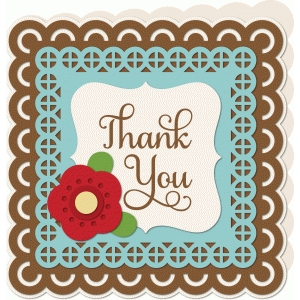 lace thank you card