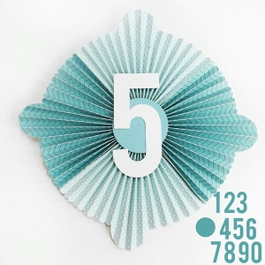 number decorative party accordion