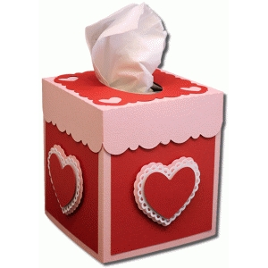 square heart tissue box