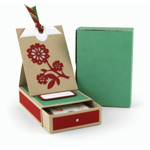 flower gift card box with pocket easel card