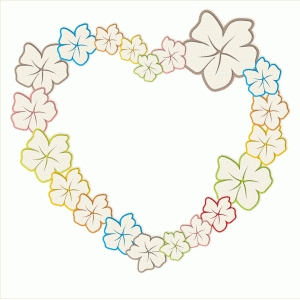 printable flowered heart