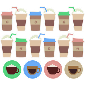 coffee date stickers