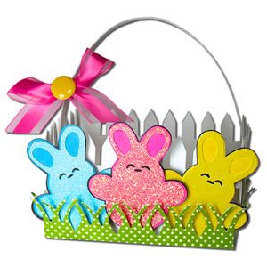 bunny picket fence basket