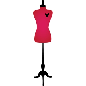 dress form w/heart