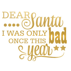 dear santa i was bad only once