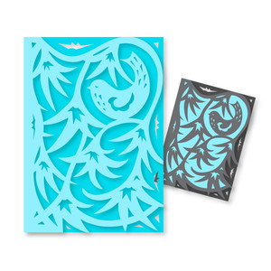 morning glory bird card