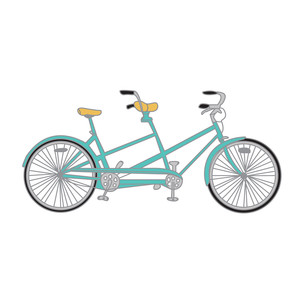 cute bike for two